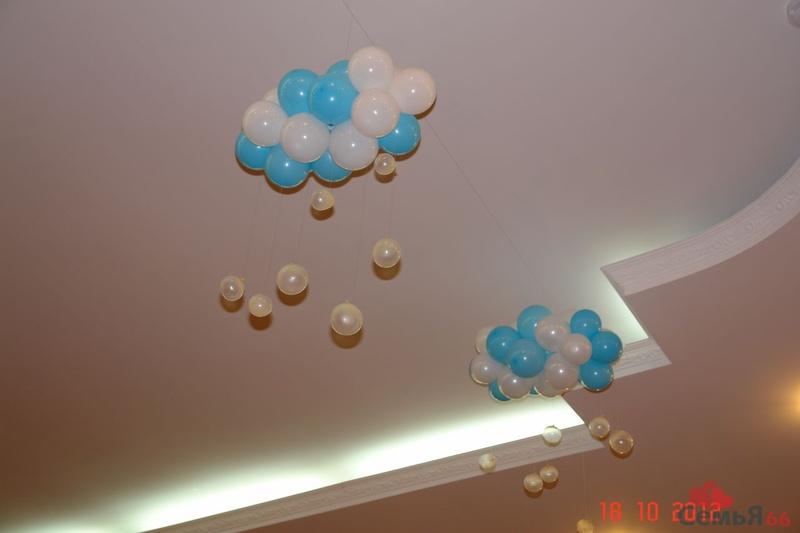 Как сделать облако из воздушных шаров